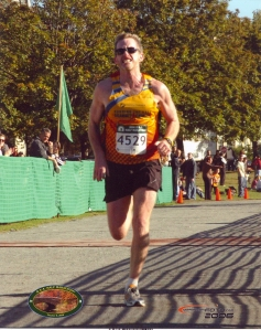 This was a big finish for me in the Boston Half Marathon a few years ago, what was going through my mind was totally profane.